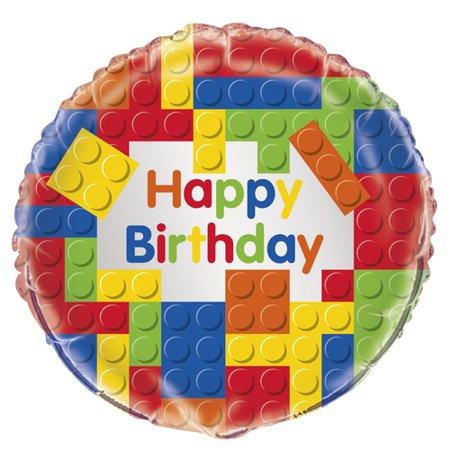 LEGO 'Building Blocks' Happy BIrthday Foil Mylar Balloon (1ct)](Lego Balloons)