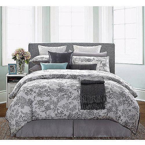 EverRouge White Lotus 300-Thread-Count 7-Piece Bedding Duvet Set