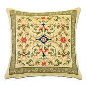 Corona Dcor Corona Decor French Woven Contrasting Victorian Design Pillow