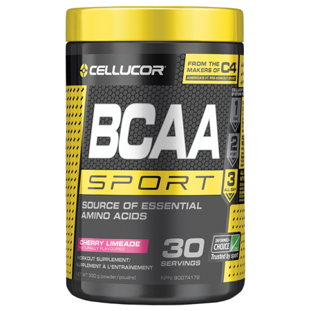 Cellucor BCAA Sport BCAA Powder, Cherry Limeade, 30