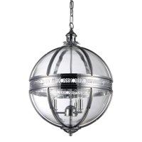 Olsen 3-light Clear Glass 16-inch Round Chrome-finish Chandelier