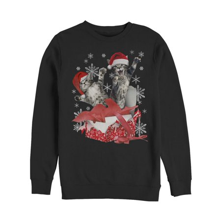Kitten Christmas Sweater.Men S Kitten Ugly Christmas Sweater Gift Surprise Sweatshirt