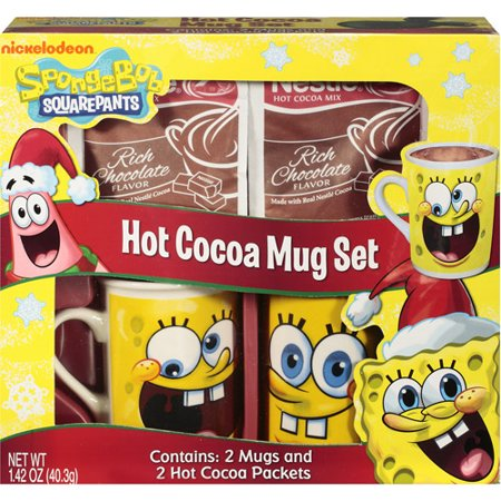 Nickelodeon Spongebob Squarepants Hot Cocoa Mug Set Gift Walmartcom