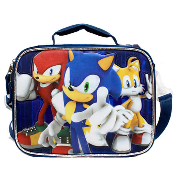Lunch Bag - Sonic the Hedgehog - w/Kunckles/Tails Blue Bew sh30166