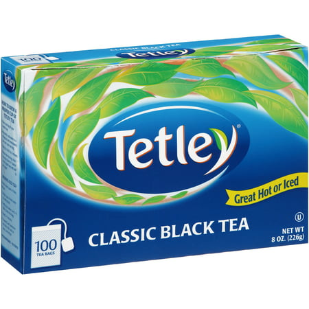 Naturally Flavored Black Tea - (3 Boxes) Tetley Black Tea, Classic Blend, 100 Count Tea Bags, 8 Ounce