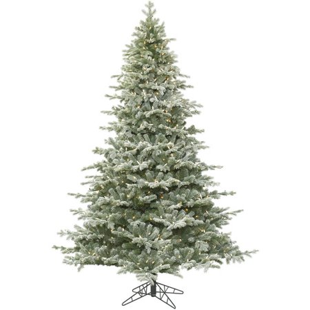 san francisco f98d2 8b1ad Vickerman 3.5' Frosted Denton Spruce Artificial Christmas Tree with 200  Clear Lights