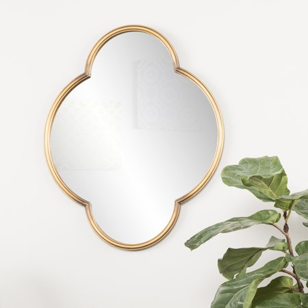 Medium Gold Geometric Decorative Wood Wall Mirror, Willis by Holly & Martin ()