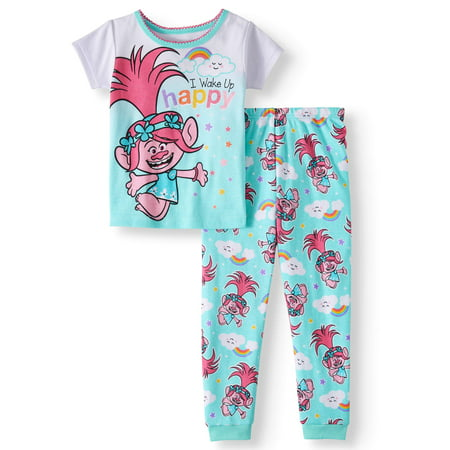 Trolls Cotton tight fit pajamas, 2pc set (toddler girls)](Girls Button Up Pajamas)