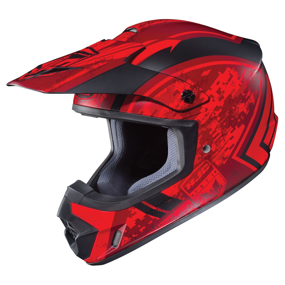 HJC CS-MX 2 Squad MX Offroad Motorcycle Helmet  Matte Red/Black