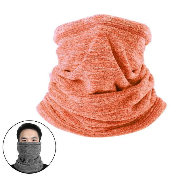 2 Pack Winter Polar Fleece Neck Gaiter Neck Warmer Scarf Face Cover Beanie Hat
