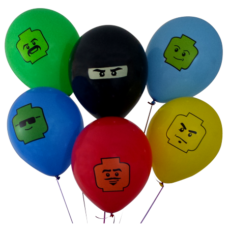 12  Party Balloons for Brick Building-Inspired Party, 6 Colors, 6 Fun Characters! 24 Balloons Total - Great Supplement to Your Brick Building Party Supplies. Fill Your Brick Building-Themed Party 12  Party Balloons for Brick Building-Inspired Party, 6 Colors, 6 Fun Characters! 24 Balloons Total - Great Supplement to Your Brick Building Party Supplies. Fill YourBrick Building-Themed Party With Bright Color and Fun!