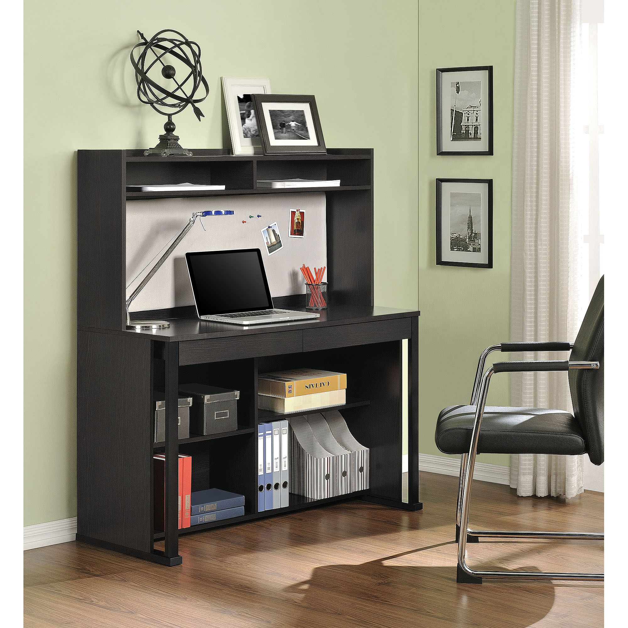 Altra Ventura Desk With Hutch Espresso Walmart Com