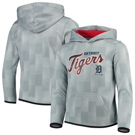 Detroit Tigers Youth Polyester Fleece Sweatshirt - Gray Detroit Tigers Youth Fleece Pullover