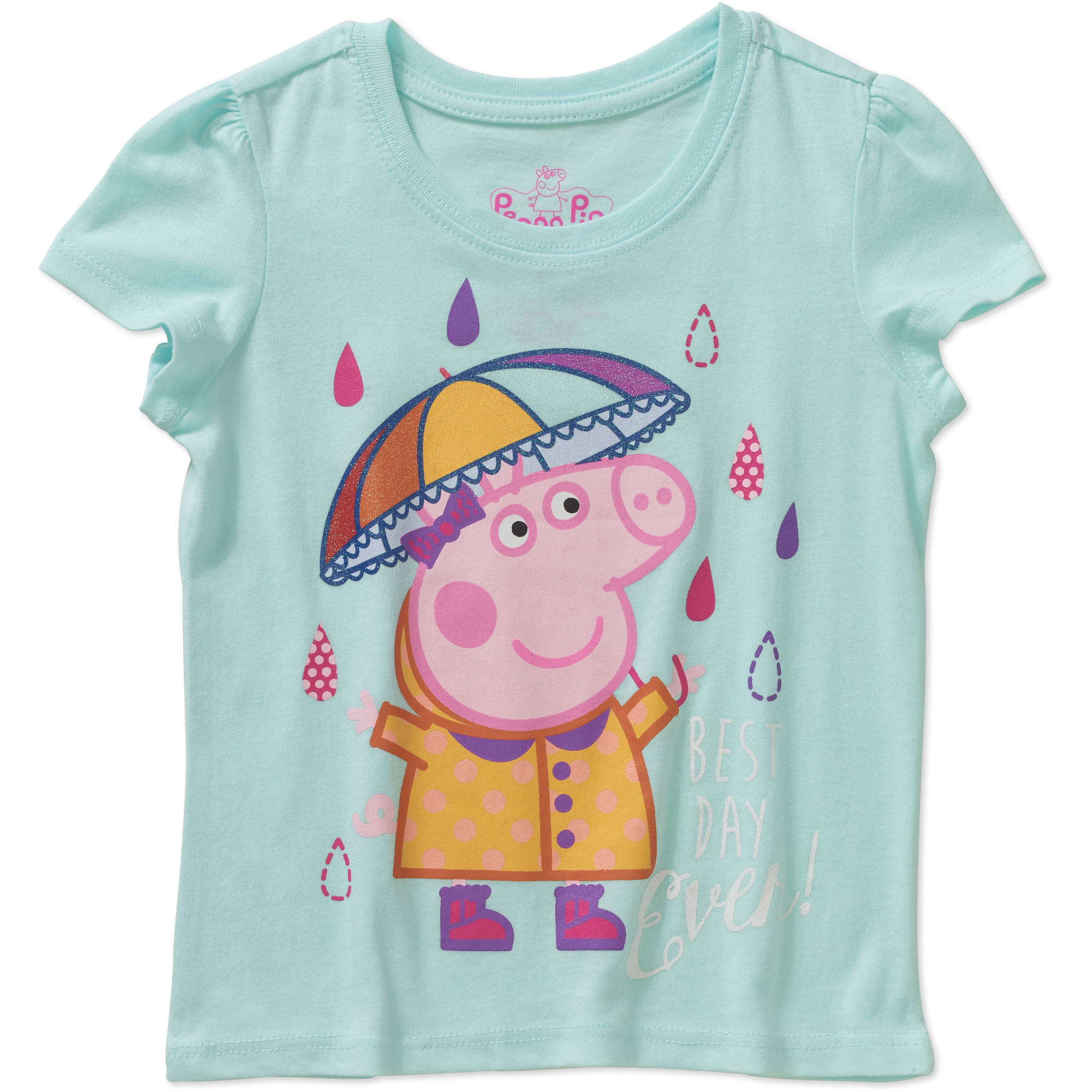 Peppa Pig Toddler Girls' Best Day Ever Short Sleeve Tee