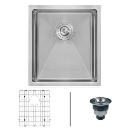 Ruvati RVH7123 23 in. Undermount 16 Gauge Tight Radius Stainless Steel Kitchen Sink Single Bowl - image 1 of 1
