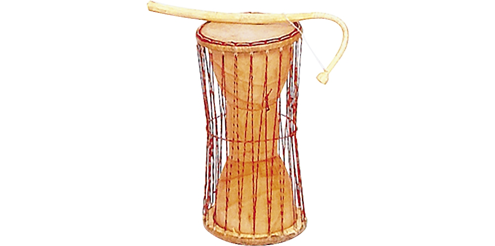 Overseas Connection Talking Drum Small Natural by Overseas Connection
