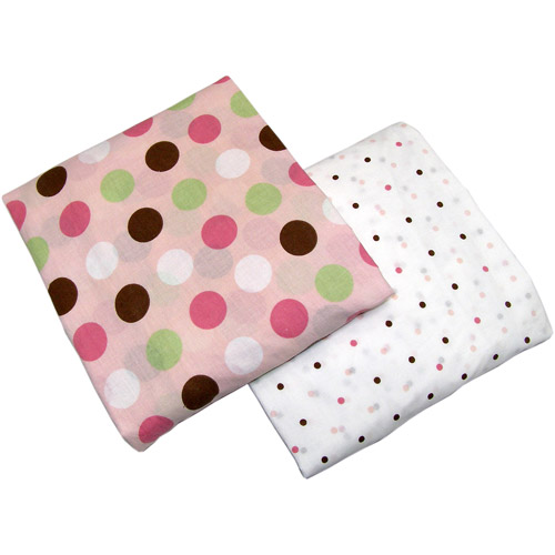 Little Bedding by Nojo Crib Sheets, Garden Friends, 2-Pack