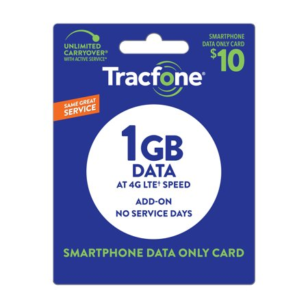 TracFone $10 Data only (No service days) Plan (Email