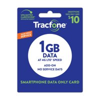 TracFone $10 Data only (No service days) Plan (Email Delivery)