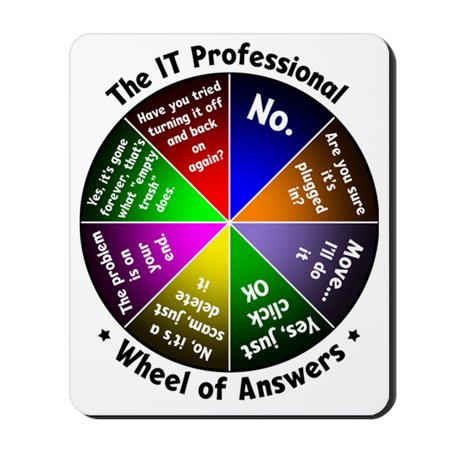 - CafePress - The IT Professional - Non-slip Rubber Mousepad, Gaming Mouse Pad