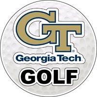 Georgia Tech Yellow Jackets 4-Inch Round Golf Ball Vinyl Decal Sticker