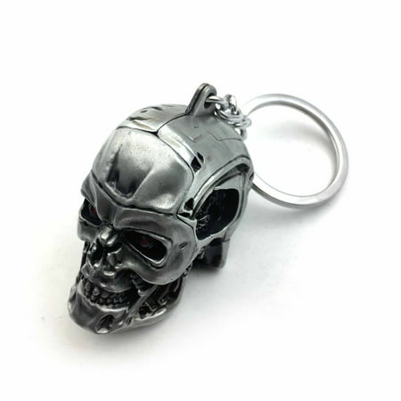 HTT-MOTOR 1pc Creative Motorcycle Bicycle Skull Key Chain Ring Keychain Keyring Key -