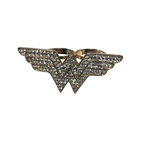 Adult's Womens DC Comics Wonder Woman Double Ring Costume Accessory for $<!---->