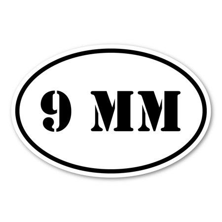 9 mm Ammunition Oval Magnet