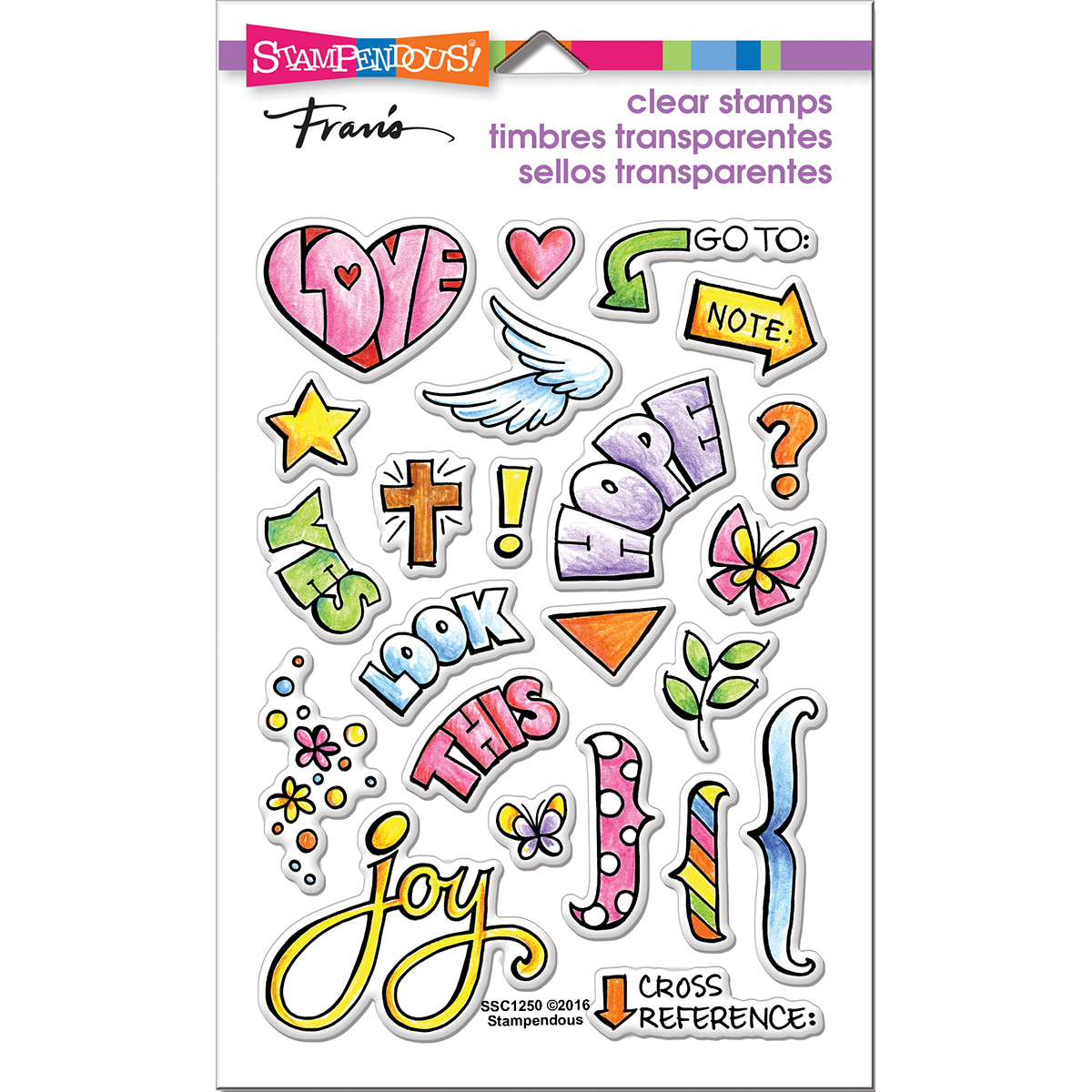 "Stampendous Perfectly Clear Stamps 4""X6""-Bible Journal"