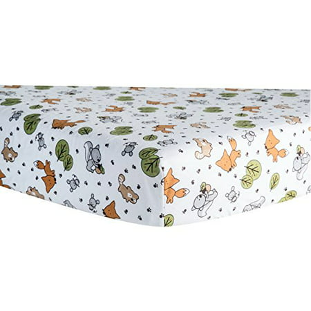 Friendly Forest Deluxe Flannel Fitted Crib Sheet ()