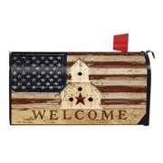 Americana Welcome Large Mailbox Cover Patriotic Primitive Oversized