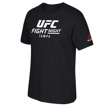 UFC Reebok Black Fight Night @ Tampa Event Graphic Print T-Shirt For Men Reebok Basketball Tee