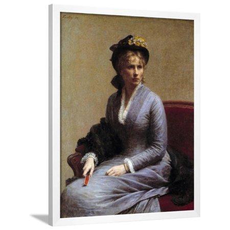 - Portrait of Charlotte Dubourg by Henri Fantin Latour Framed Print Wall Art