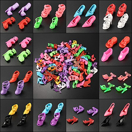 Doll In High Heels (2 Set of 80 Pairs Multiple Styles Doll Shoes Different High Heels For Doll Dresses)