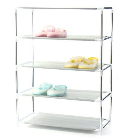 4 5 Tier Diy Shoe Racks Shelf Closet Organizer Free Storage Standing Space Saving Non Woven Large Capacity Furniture Shoes Cabinet Shelf Home
