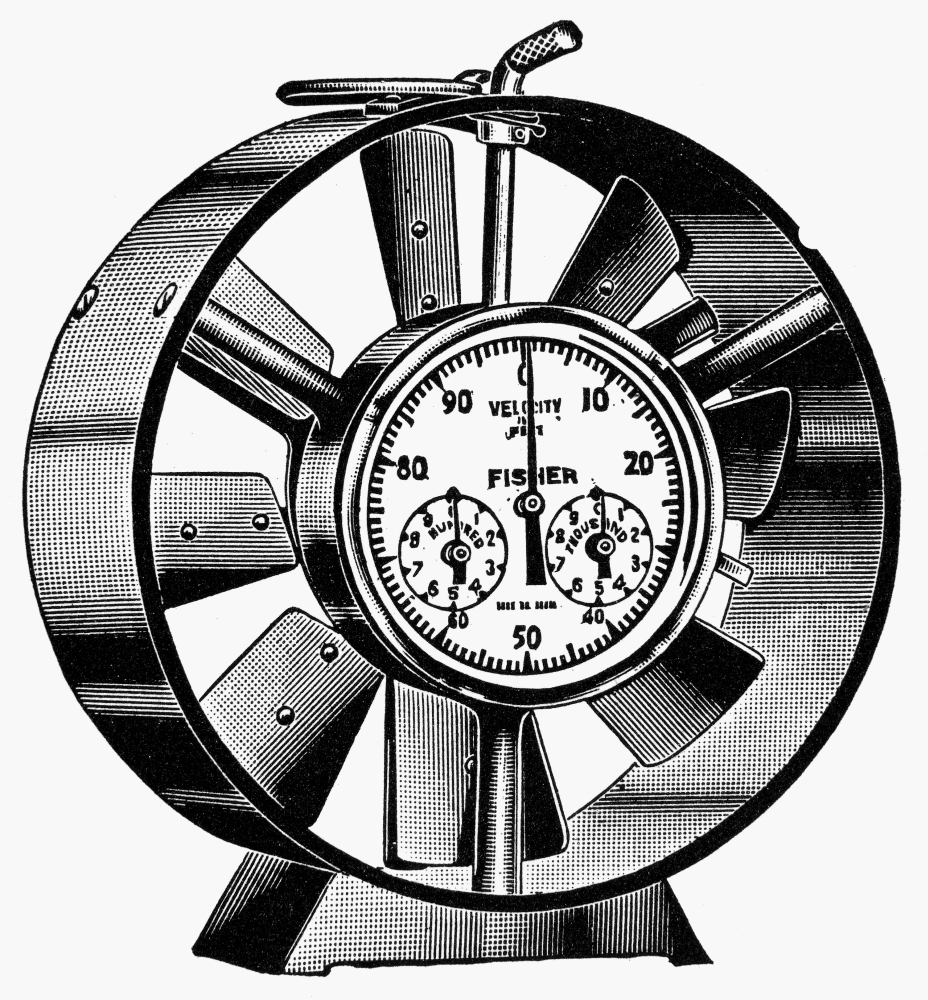 Anemometer 20Th Century Nanemometer An Instrument To Measure The Velocity And Force Of Wind Line Engraving Mid... by Granger Collection