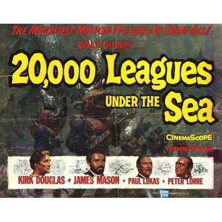 20,000 Leagues Under the Sea POSTER Movie Half Sheet A (22x28)