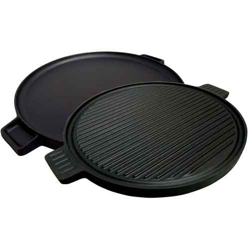 "King Kooker Pre-Seasoned Cast Iron 14"" Round 2-Sided Griddle"