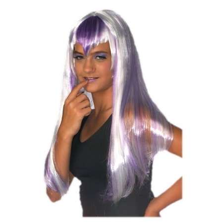 Purple Chill Wig Rave Long Bang Sexy Women's Frost Vampiress Costume Accessory - image 1 de 1