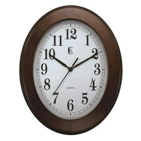 Geneva Clock 9153G Geneva 9 in. x 11 in. Wood Wall Clock ()