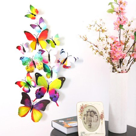 Wall Decal Cartoon Simulated Butterfly Removable Wall Paper Living Room Decor - image 4 de 6