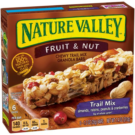 Nature Valley Fruit and Nut Chewy Trail Mix Granola Bars 1 ...