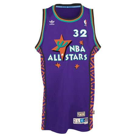 cc057fc61c5d Shaquille O Neal Adidas NBA Retro 1995 All-Star East Swingman Jersey -  Purple - Walmart.com