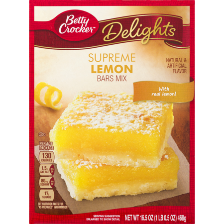 Betty Crocker 174 Delights Dessert Bar Mix Supreme Lemon 16 5
