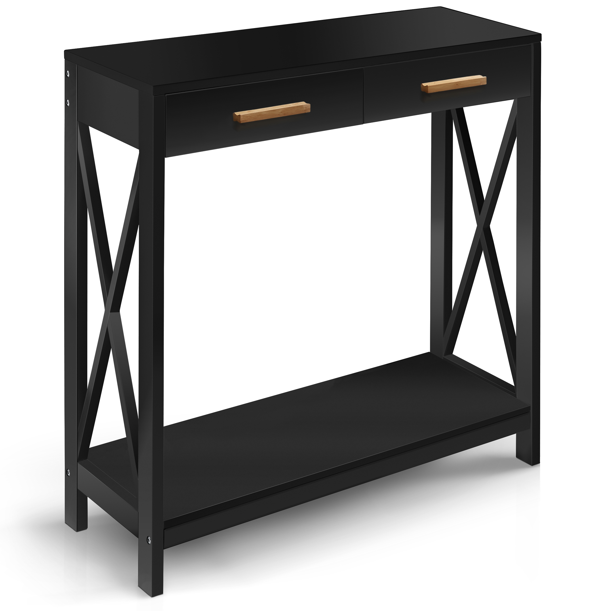 Prosumer's Choice Black Entryway Console For Home Or