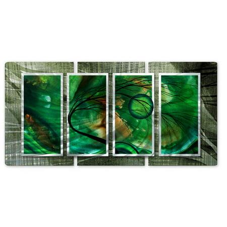 All My Walls Emerald Glow Ii By Megan Duncanson 4 Piece Graphic Art Plaque