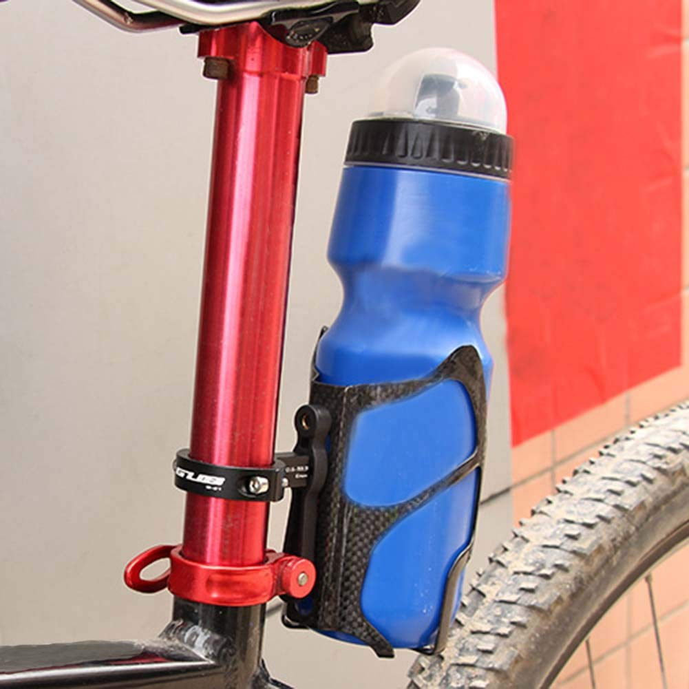 Bicycle Cycling Seat Post Back Mount Two Water Bottle Holder Cage Adapter