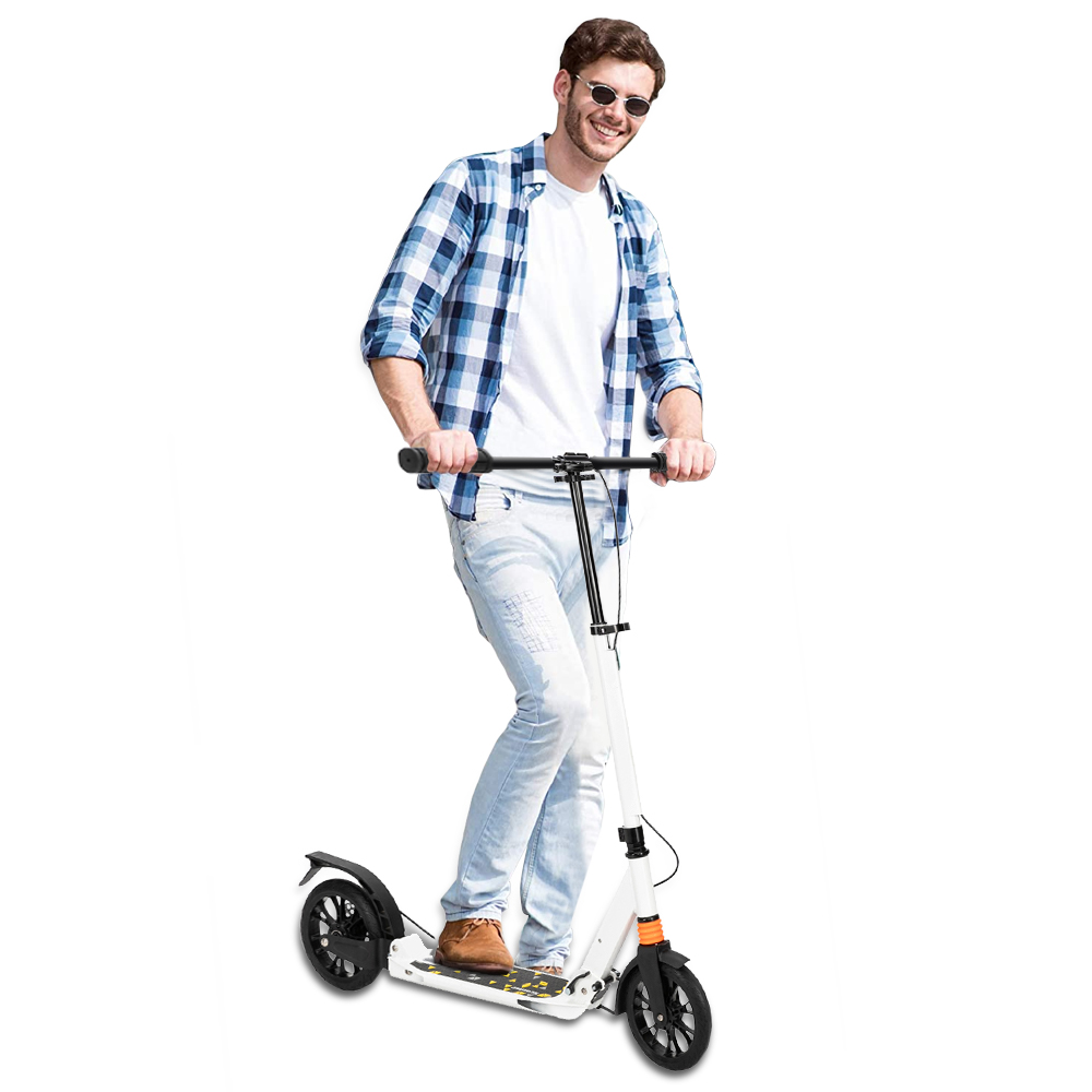 Big Wheels Scooter Folding Kick Scooter with Dual g 02 Details about  /Scooter for Adults//Teens