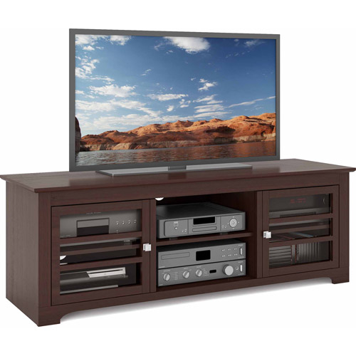 "CorLiving West Lake Espresso Wood Veneer TV Bench for up to 68"" TVs"