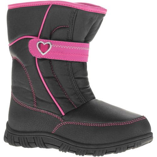 Girl's Heart Strap Winter Snow Boot
